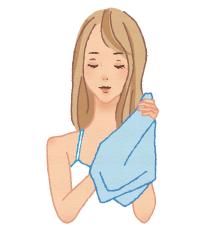 洗发后请用毛巾擦拭